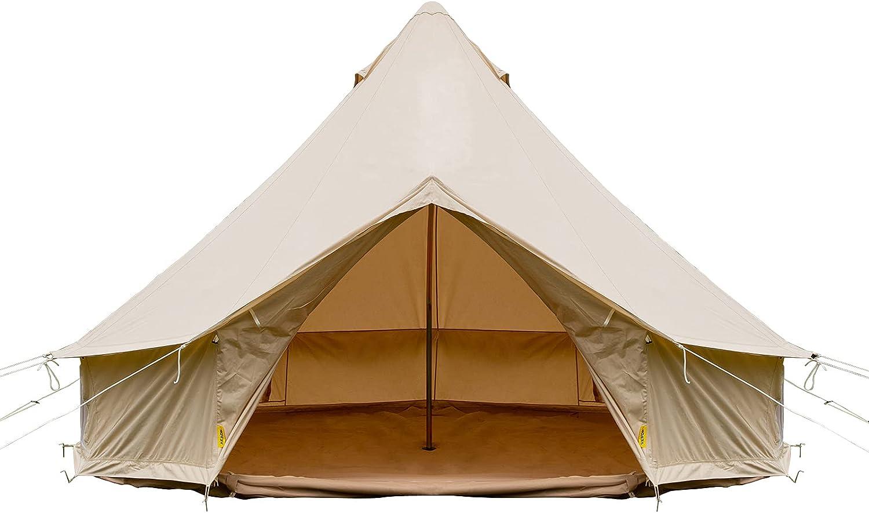 Happybuy Bell Tent Canvas 4-Season Camping SALENEW Fashion very popular Yurt for Tents W