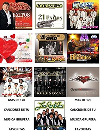 PAQUETE DE 10 DISCOS COMPACTOS DE LAS MEJORES BANDAS GRUPERAS VOL. 3