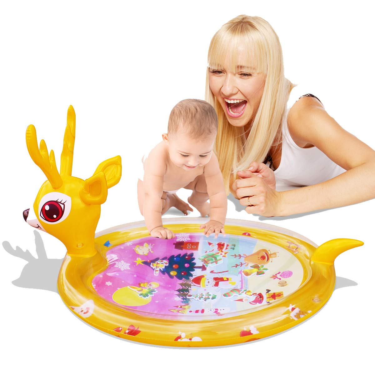 Inflatable Tummy Time Premium Water mat Infants and Toddlers is The Perfect Fun time Play Activity Center Your Baby's Stimulation Growth(80 x 70 cm)
