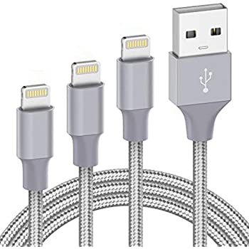 Cable 11 Pro Xs MAX XR X 8 7 6s 6 5E Plus car Cord Fast Long USB 3ft 6ft 10ft Pack 100