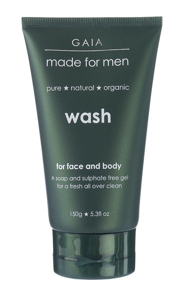 征服タオルに慣れ【GAIA】Face & Body Wash made for men ガイア メンズ フェイス&ボディウォッシュ 150g 3本セット