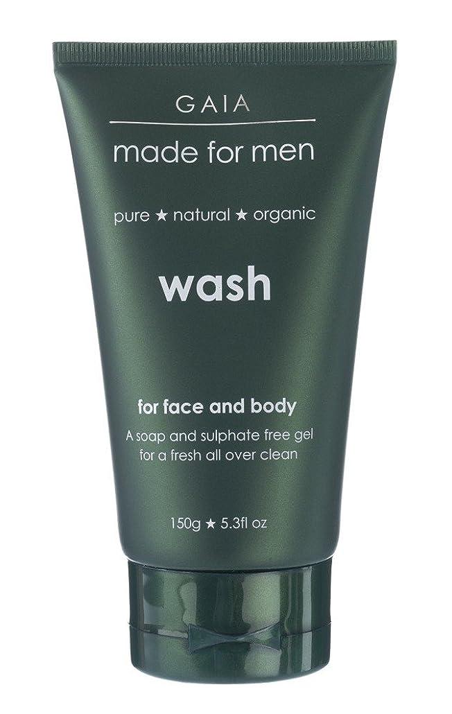 理容室引き潮カウント【GAIA】Face & Body Wash made for men ガイア メンズ フェイス&ボディウォッシュ 150g