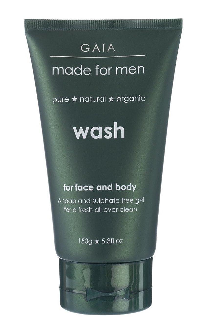 圧縮された民主主義落ち着く【GAIA】Face & Body Wash made for men ガイア メンズ フェイス&ボディウォッシュ 150g 3本セット