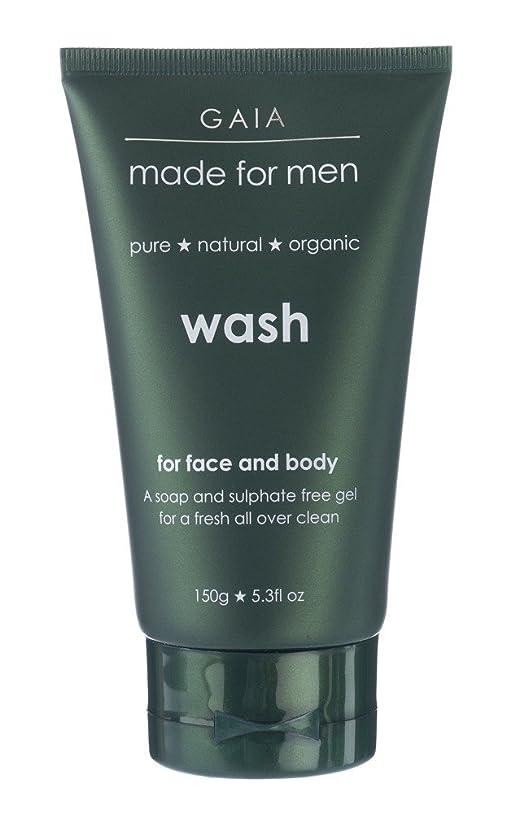 静める誘惑閉塞【GAIA】Face & Body Wash made for men ガイア メンズ フェイス&ボディウォッシュ 150g 3本セット