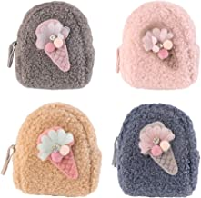 KESYOO 4Pcs Mini Backpack Key Chain Coin Cash Bag Small Wallets for American Doll Accessories Easter New Year Party Favor ...