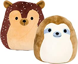 SQUISHMALLOW 8 (2-Pack) Simon The Sloth and Hans The Hedgehog - Super Soft Plush Toy Pillow Pets, Multi