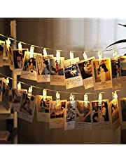 led Photo Clips String Lights Battery Operated Fairy String Lights with 20 Clips for Hanging Photos