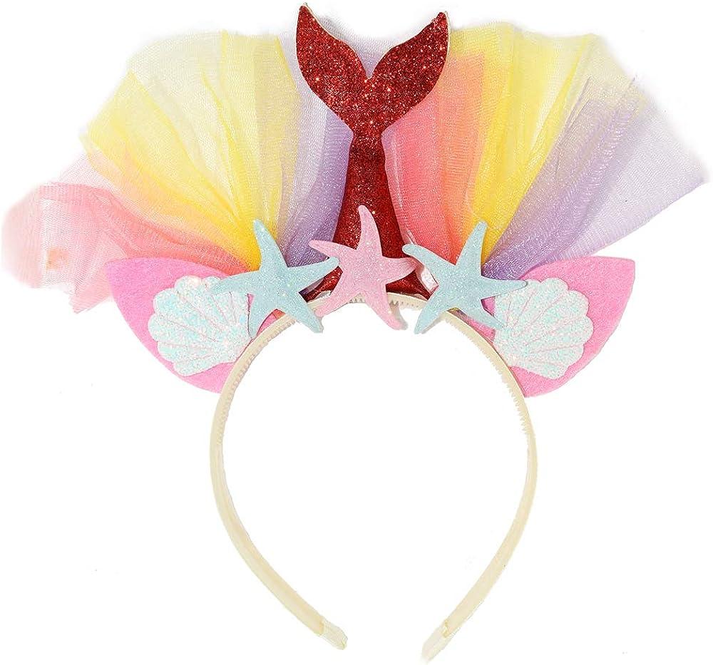 under the sea birthday Pink and sparkly mermaid bow headband girl\u2019s first birthday headband photoshoot headband sparkly mermaid bow