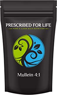 Prescribed for Life Mullein - 4:1 Natural Leaf Extract Powder (Verbascum thapsus), 4 oz (113 g)