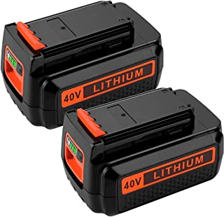 2 Pack LBXR36 2.5Ah 40V Max Lithium Replacement for Black and Decker 40 Volts Battery LBX2040 LBXR2036 LBX2540 LBX1540 LST540 LCS1240 LST136W Series Tool
