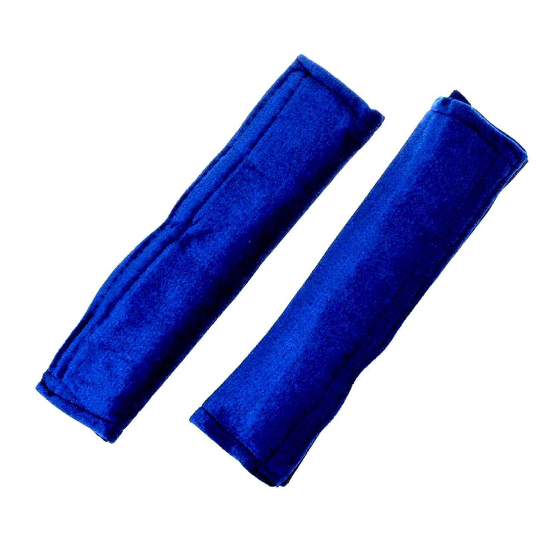 2er Set Gurtpolster Auto Mit Klettverschluss Gurtschoner Sicherheitsgurt Polster Gurtschutz Velour Autogurtpolster Blau Baby
