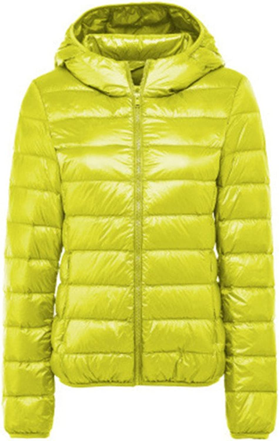 Basieng Women's UltraThin Down Jacket 90% Winter Down Jacket Jacket Chain