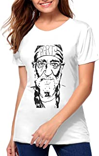 Willie Nelson Women's Dangerous Woman Boyfriend Fit T-Shirt