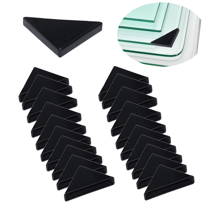 YouU Corner Protectors- 20 Pcs Shape Triple-cornered Glass Table Corner Protector Cushion (6mm x 50mm)
