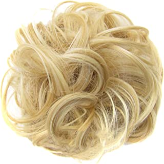 Kauneus Hairpiece Scrunchies for Women Hair Bun Extensions Wavy Curly Messy Hair Extensions Donut Hair Wig Hairpiece Ponytail