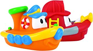 Nuby 2-Pack Tub Tugs Floating Boat Bath Toys, Colors May...