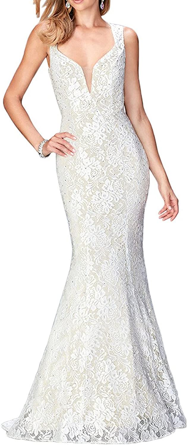 Avril Dress Captivating Mermaid lace Formal Prom V Neck Party Long Gown New