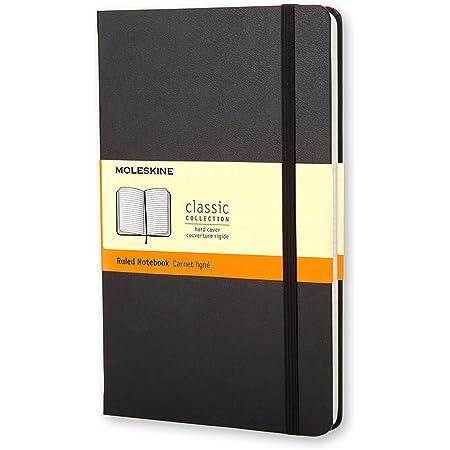 Moleskine Classic Notebook, Taccuino a Righe, Copertina Rigida e Chiusura ad Elastico, Formato Large 13 x 21 cm, Colore Nero, 240 Pagine