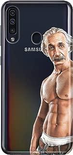 Cekuonline Samsung Galaxy A20s Kılıf Desenli Esnek Silikon Telefon Kabı Kapak - Einstein Baba