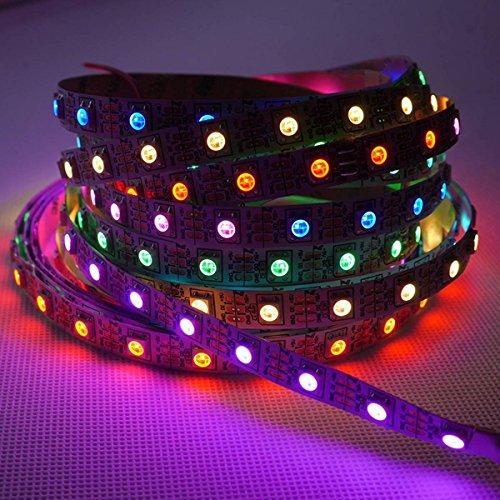 AUDEW LED Strip Light 13FT 240LEDs WS2812 Flexible Light Strip RGB SMD5050 Addressable Lights Non-Waterproof for Garden Xmas Wedding Party Decor