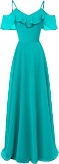 TalinaDress Women's Chiffon Long Off Shoulder Bridesmaid Dresses Prom Gown E050LF