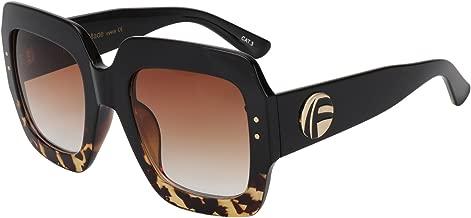ROYAL GIRL Oversized Square Sunglasses Women Inspired Multi Tinted Frame Fashion Modern Shades