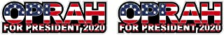 Oprah Winfrey for President 2020 Bring Hope Back Sticker Decal Pegatinas Aufkleber/Plus Coconut Shell Keychain Ring/Car Truck Bumper Notebook Election USA America (3 Stickers 6