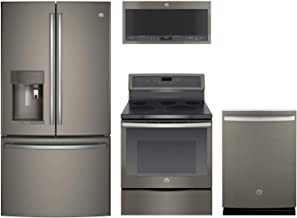 GE Profile 4-Piece Kitchen Package with PFE28PMKES 36