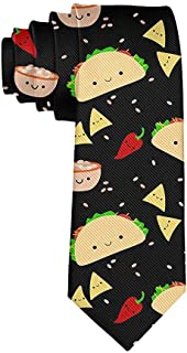 Tie Funny Neckties Colorful Taco Tuesday Party Fashion Wide Novelty Neck Ties For Men teen