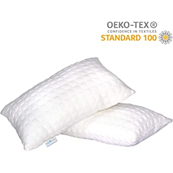 Dreamfactory 400 GSM Knitted Fabric Soft Fluffy Sleeping Pillow (Single)