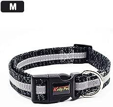 ZZmeet Cloth Nylon Dog Collar Comfortable Reflective Non-Stick for Medium Small Dogs Durable Soft Comfortable Dog Collar Pet Supplies