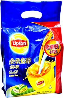 Lipton Hong Kong Style Gold Instant 3 in 1 Milk Tea Rich and Smooth (Gold Milk Tea, 16.5g x 34 Sachets)
