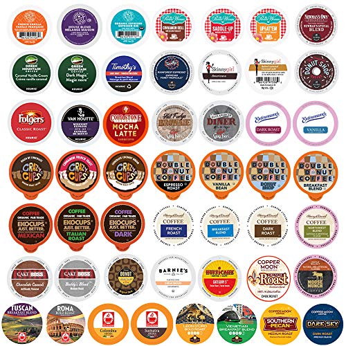Crazy Cups Perfect Samplers Premium Coffee, Variety Pack, 50 Count