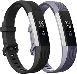 Fundro Replacement Bands Compatible with Fitbit Alta Bands and Alta HR Band, Newest Sport Strap Wristband with Secure Buckle for Women Men Boys Girls, 2- Pack