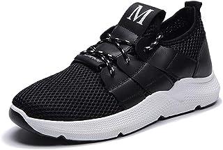YVWTUC Heren Zwart Wit Hardloopschoenen Lichtgewicht Gezellige Mesh Sneakers