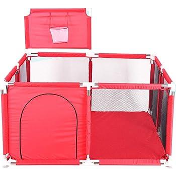 GODNECE Portable Grand Parc Bebe Filet Parc Bebe Evolutif Parc pour b/éb/és /à 5 c/ôt/és avec 50 balles Parc B/éb/é Barri/ère Securit/é