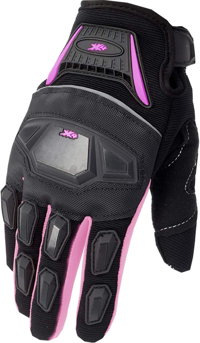 ATV Motocross Dirt Bike Motorcycle Powersports Street Bike Racing Gloves 02 S, 12 Pink//Black
