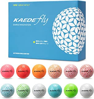 「世界最多色」KAEDE(カエデ) ゴルフボール FLY 12色セット(12個入り)