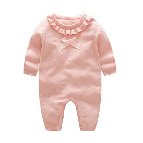 cdea66e97fc Auro Mesa Girl Winter Clothes Princess Clothes for Girls Baby Rompers  Knitted Red and Pink Baby