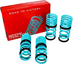 Godspeed LS-TS-II-0002-A Traction-S Performance Lowering Springs, Reduce Body Roll, Improved Handling, Set of 4