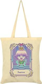 Deadly Tarot Kawaii Justice Tote Bag Cream 38x42cm