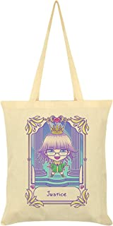 Deadly Tarot Kawaii Justice Tote Bag Cream 38x42cm