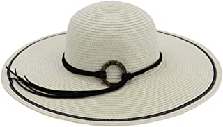 XingKunshop Sun Hat Straw Sunhat for Women, Foldable Comfortable Large Brim Summer Beach Outdoor Hat Anti-UV Protection Fishing Hat with Wide Brim Hat Sunhat,Travel (Color : Silver)