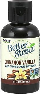 NOW Foods, Better Stevia, Liquid Zero-Calorie Sweetener, Cinnamon Vanilla Flavor, Certified Non-GMO, 2-Ounce
