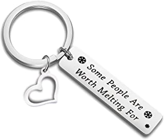 FEELMEM Some People are Worth Melting for Keychain Friendship Jewelry BFF Birthday Gift
