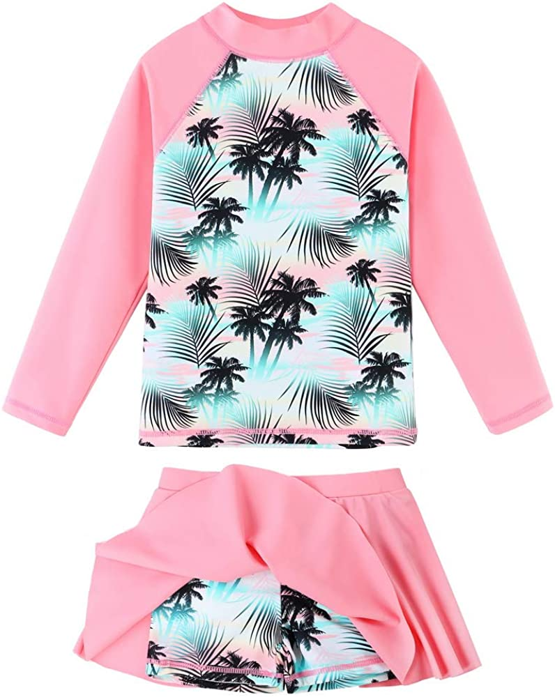BAOHULU Girl's Two-Piece Ranking TOP19 A surprise price is realized Long Sleeve Rash UPF50+ Guard Swimsuits