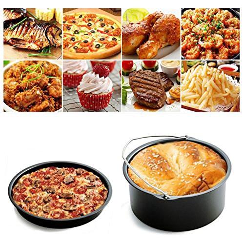 Sufeng Air Frying Pan Accessories 5pcs Fryer Baking Basket Pizza Plate Grill Pot Mat