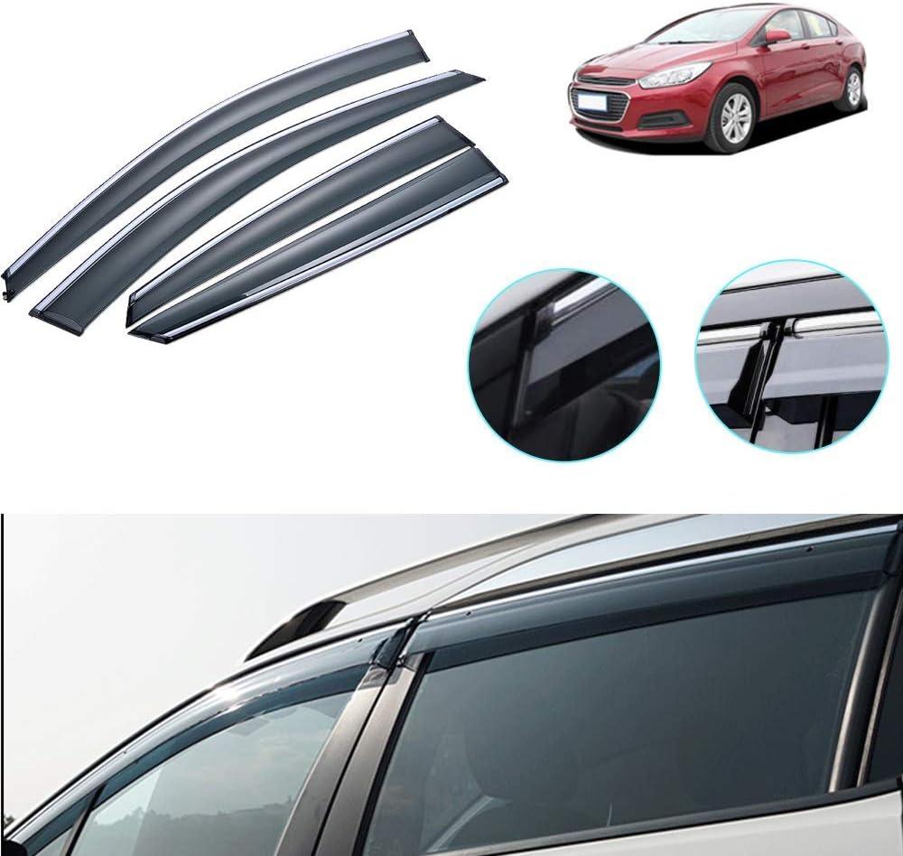 Maite Side Window Deflector for 2016 Sedan 2015 Cruze New Deluxe color Chevrolet