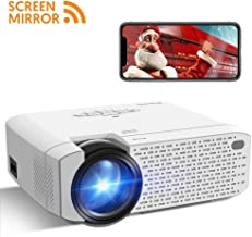 $99 » Mini Projector, Crosstour Video Projector with Synchronize Smart Phone Screen, 3500 lumens Full HD 1080p Supported, Compatible with TV Box/PC/PS4/HDMI/VGA/TF/AV/USB/Smartphones