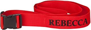 personalised suitcase belts
